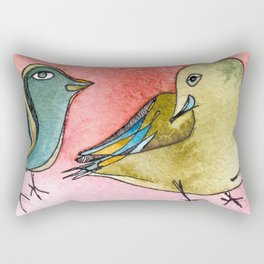 Love is in a feathers Rectangular Pillow
