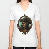 hook V-neck T-shirts featuring Hook by ManuelDA