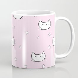 kitty star pattern Coffee Mug