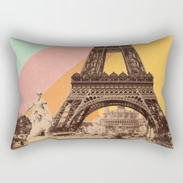 Rainbow Sky Above The Eiffel Tower Rectangular Pillow