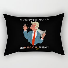 Everything is Peachy Impeachment Anti Trump Rectangular Pillow