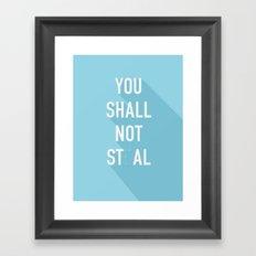 The Eighth Commandment Framed Art Print