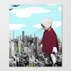 child, seeking something  Canvas Print