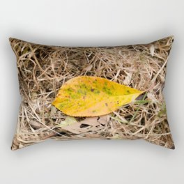 Yellow leaf on the ground Rectangular Pillow