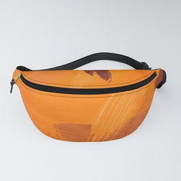 brush painting texture abstract background in orange brown Fanny Pack