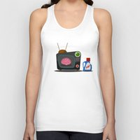 tv Tank Tops featuring Television by Mountain Top Designs