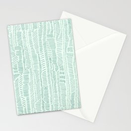Stitches in blue Stationery Cards