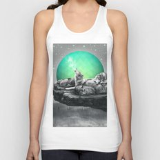 Echoes of a Lullaby / Geometric Moon Unisex Tank Top