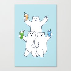 Summer float bears Canvas Print