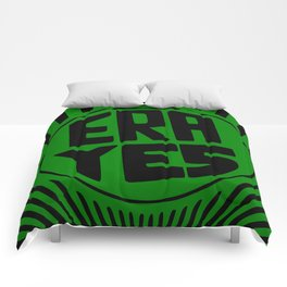 ERA YES - Green and Black Comforters