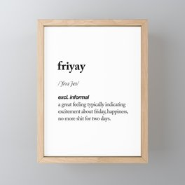 Friyay black and white contemporary minimalism typography design home wall decor bedroom Framed Mini Art Print