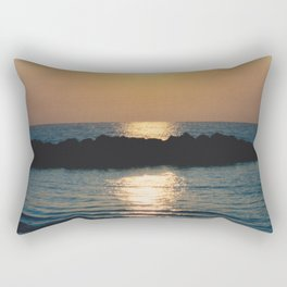 Sunset Ocean Bliss #6 #nature #art #society6 Rectangular Pillow