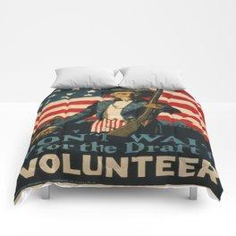 Vintage poster - Don't Wait for the Draft, Volunteer Comforters