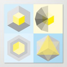 metatron's shape variation Canvas Print
