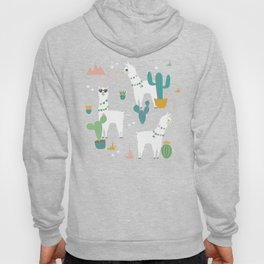 Summer Llamas on Pink Hoody