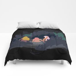 Night Pond Comforters