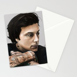 Frank Iero Digital Painting Stationery Cards