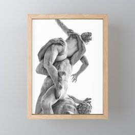 The robbery of the Sabineers of Giambologna Framed Mini Art Print