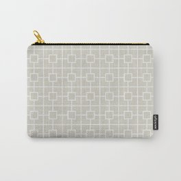 Wolf Gray Square Chain Pattern Carry-All Pouch
