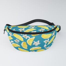 Citrus marine pattern with slices and flowers Fanny Pack