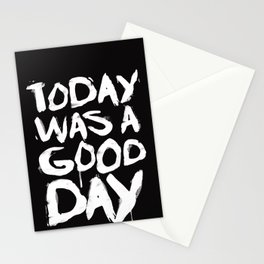 Today was a good day Stationery Cards