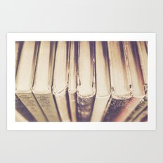 Vintage Books Art Print