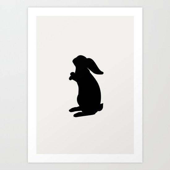 Positive Posters Rabbit Art Print