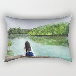 girl and nature Rectangular Pillow
