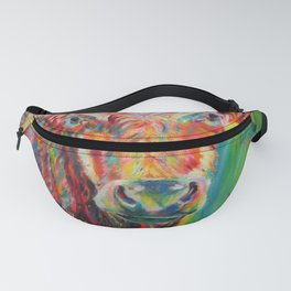 Colourful charolais bull Fanny Pack