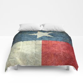 Texas flag, Retro style Vertical Banner Comforters
