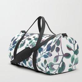 Jade and Succulent Watercolor Plant Pattern Duffle Bag