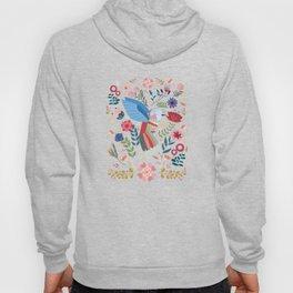 Folk Art Inspired Hummingbird In A Burst Of Springtime Blossoms Hoody