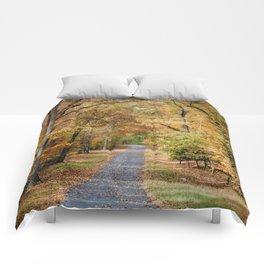 Autumn Passage 2 - Fall Landscape Scene Comforters