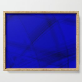 Shaded stone facets with blue diagonal lines of intersecting glowing bright energy waves. Serving Tray