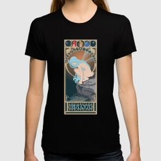 Malta Nouveau -  Sea Prince and the Fire Child X-LARGE Black Womens Fitted Tee