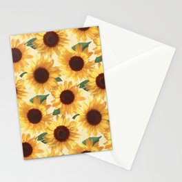 Happy Yellow Sunflowers Stationery Cards