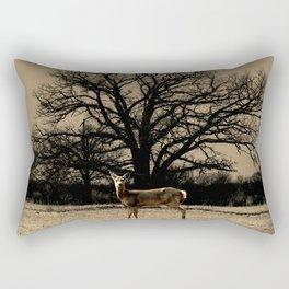 Rustic Deer Tree Modern Country Cottage Chic Farmhouse Art A587 Rectangular Pillow