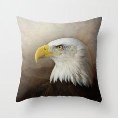 The noble Bald Eagle Throw Pillow