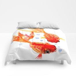 Goldfish Nursery Illustration Feng Shui Two Fish Art Comforters