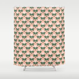 Ajrak Woodblock Floral Print Shower Curtain