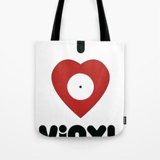 I Heart Vinyl Tote Bag