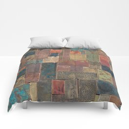 Etched Patina Patchwork Comforters