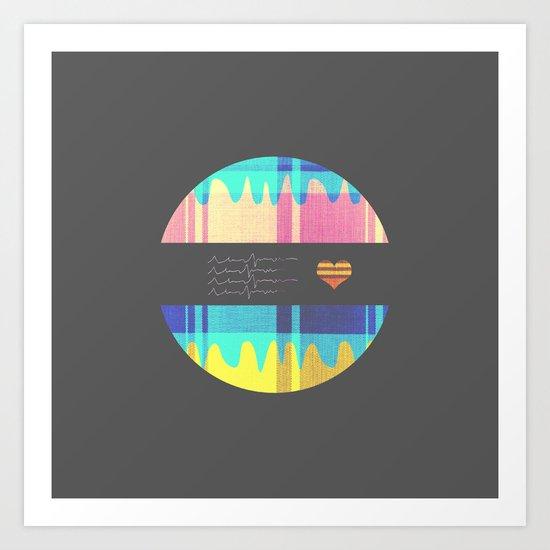 Patterned HeartBeat Art Print