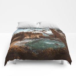 Big Sur Sunset at McWay Falls Comforters