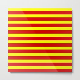 marinière mariniere red and yellow Metal Print