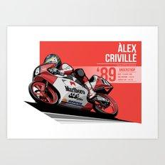 Alex Criville - 1989 Anderstrop Art Print