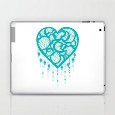 Heart-Catcher Teal Laptop & iPad Skin