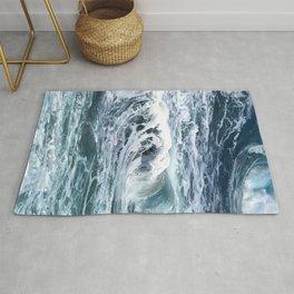 Blue Sea Ocean Waves Rug