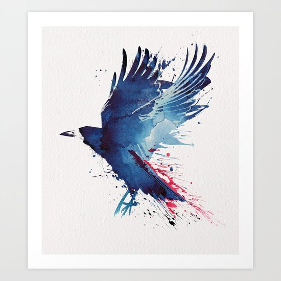 Bloody Crow Art Print
