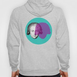 Goethe - teal and purple portrait Hoody